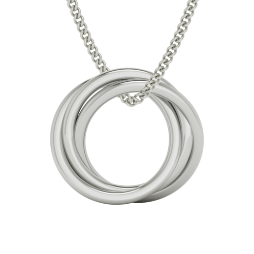 Russian Ring Necklace - The 'Alexandra' 9ct White Gold