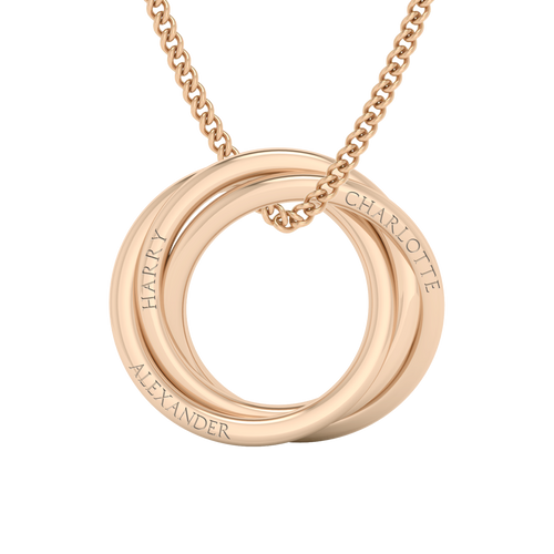 Russian Ring Necklace - The 'Alexandra' 9ct Rose Gold