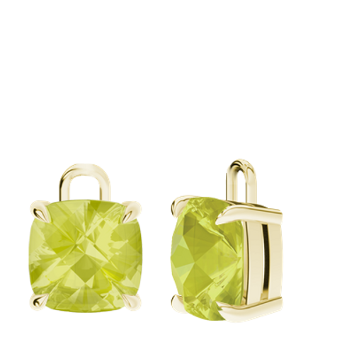 Lemon Quartz 9ct Yellow Gold Checkerboard Earrings - Drops Only