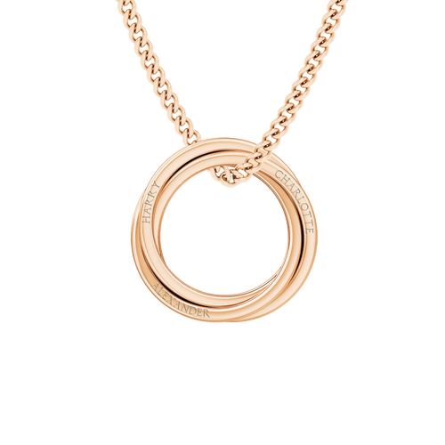 Russian Ring Necklace - the 'Zara' 9ct Rose Gold
