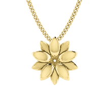 Lotus Flower Necklace - Yellow Gold