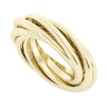 Double Russian Wedding Ring - Gemelle - yellow gold