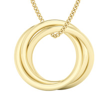 Russian Ring Necklace - The 'Charlotte' (Yellow Gold)