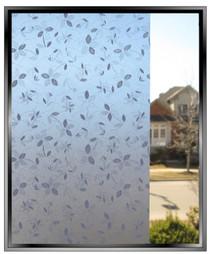 Little Blue Flowers - DIY Decorative Privacy Window Film