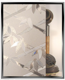 Bamboo 3D - Static Cling Window Film