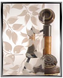 dp Abstract Leaf - DIY Decorative Window Film