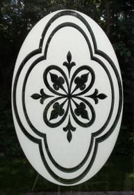 Decorative Etched Pattern Decorative Window Decal