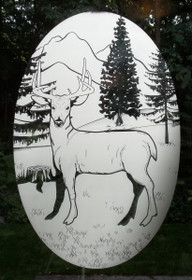 Deer Etched Pattern Decorative Window Decal