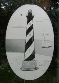 Cape Hatteras Lighthouse Decorative Window Decal