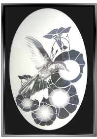 Hummingbird Pattern Decorative Window Decal