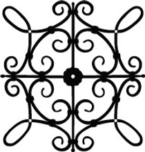 xcs SQ1 Faux Wrought Iron Pattern - Custom Size