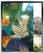 Apex Stained Glass - Doves - DIY Decorative Privacy Window Film