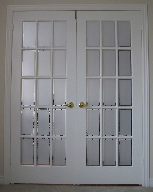 Exterior glass doors business - Toronto Residential Window Graphic For The Look Of Etched