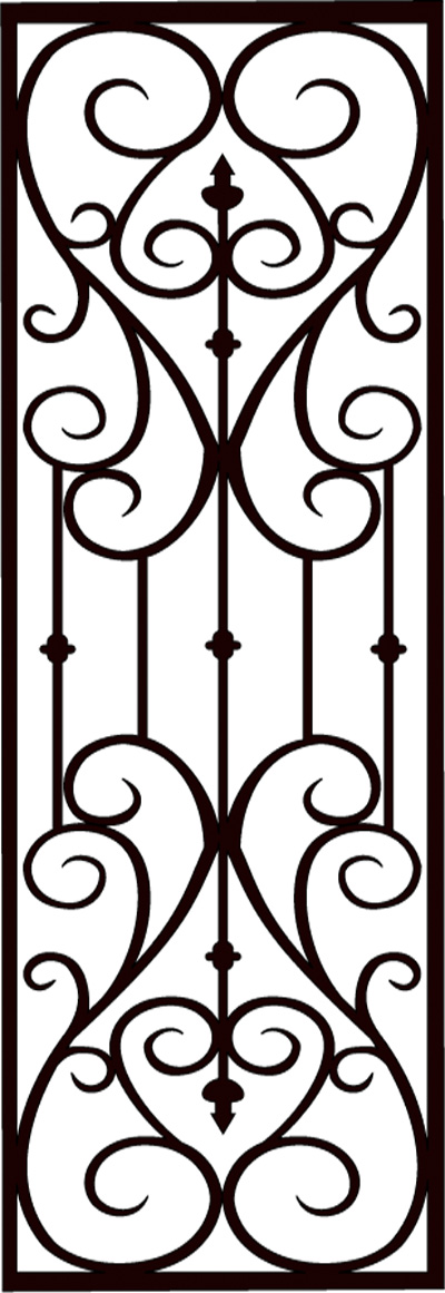 Faux wrought iron pattern d greater toronto installation