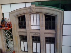 installing commercial window film