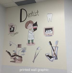 Dentist office wall mural