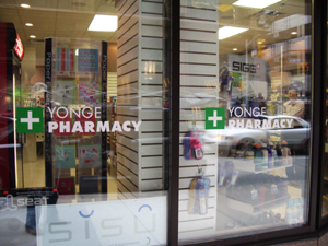 graphic films for retail pharmacy in Toronto