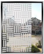 Four Squared Frost Stripes - DIY Decorative Privacy Window Film