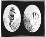 Sea Life Combo Pack of Two Etched Pattern Static Cling Window Decals