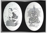 zSEASONAL:  Small Holiday Etched Pattern Static Cling Window Decals