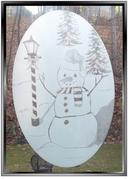 xSEASONAL:  Snowman Static Cling Window Decal - Large