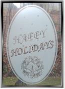 xSEASONAL:  Happy Holidays Static Cling Window Decal - Large