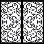 DD2 Faux Iron (set of two - enter size for one window)