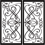 DD4 Faux Iron (set of two - enter size for one window)