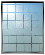 "Geometric 1.125"" Sparkle Squares - DIY Decorative Privacy Window Film"