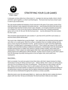 Stratifying Your Game