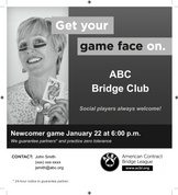 Game Face Newspaper Ad (Female)