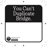 You Can't Duplicate Bridge Templates