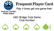 Frequent Player Card