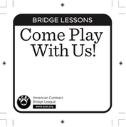 Come Play With Us - Bridge Lesson Newspaper Ads