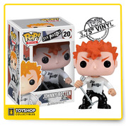Also featured is Johnny Rotten is with his spiky orange hair, mic and stand, white Sex Pistols shirt, black pants, and black boots. Let out all that aggression on the mic Johnny Rotten!