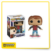 This POP Marty McFly Back to the Future 2 Vinyl Figure commemorates Marty's trip to the spectacular future that's finally here! He comes complete with the hoverboard that helped him escape Griff Tannen and his equally strange goons. He makes for perfect company while you wait for double neckties and stationary exercise bikes at restaurants to catch on. He's just one of our exclusive Back to the Future products from FUN.com!