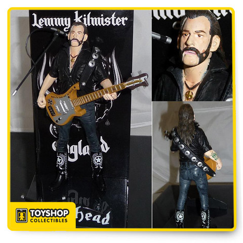 Lemmy Kilmister , the lead singer and bassist of Motorhead and a heavy metal icon for six decades. His own action figure with this Motorhead Lemmy Kilmister 6-Inch Action Figure from Locoape's Icon Figure Series. Each 6-inch tall articulated figure includes strap accessories, a microphone and stand, a figural base.