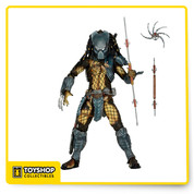 "This action figure  has over 30 points of articulation and comes with character-specific gauntlets, armor, weapons, trophies and other accessories. As an added bonus, the hands, gauntlet blades and cannons are removable and compatible with all AvP Predators.  Figures stand 8.25"" tall. Blister card packaging."