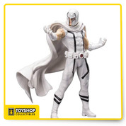 From the pages of Marvel Now and the artwork of Adi Granov, a statue of the powerful mutant, Magneto! Wearing his iconic helmet, Magneto stands in his white costume with one arm outstretched and his powerful physique poised for action. The X-Men Marvel Now Magneto White Costume Version ArtFX+ 1:10 Scale Statue - Previews Exclusive measures approximately 8-inches tall and is made of plastic, with magnetic parts. Ages 14 and up.