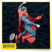 The Man of Steel is coming in hot! As seen in the Batman v Superman: Dawn of Justice movie, Superman comes on a Georama base and dynamic pose create the illusion that Superman is captured midflight, right arm raised to deliver a devastating blow. The 1:10 scale Superman ArtFX+ statue measures slightly over 9 4/5-inches tall. looks like he's stepped off the screen in this highly detailed 1:10 scale statue. The plastic PVC and ABS statue comes in a closed box. Ages 14 and up.