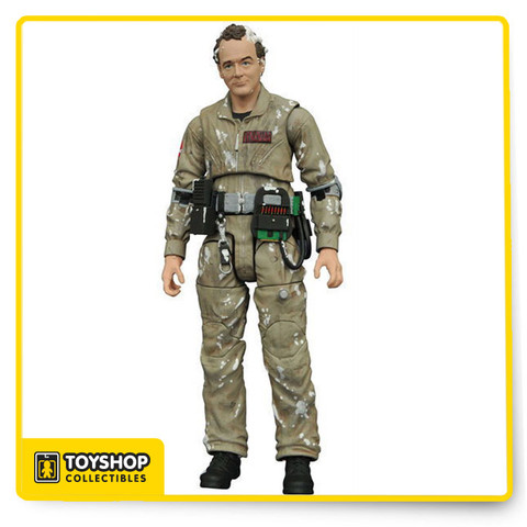The 1984 horror-comedy classic Ghostbusters is as beloved now as it ever was, and this exclusive action figure captures one of its most beloved characters!  The fun-loving spokesman of the Ghostbusters, Peter Venkman gets covered with marshmallow in this exclusive 7-inch scale action figure featuring newly sculpted parts, as well as the standard 16 points of articulation, plus alternate hands, proton pack, neutrino wand and display base. Sculpted by Gentle Giant!