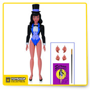 Add to your Batman Animated collection with this Zatanna action figure from DC Collectibles! Based on her appearance from the episode Zatanna, she stands approximately 5.75 inches tall, features multiple points of articulation, and includes show specific accessories: Multiple sets of hands, a cane, a Mistress of Magic poster, and a unique display stand.