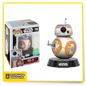 BB-8 (thumbs up) is given a fun, and funky, stylized look as an adorable collectible vinyl bobble-head! 2016 Summer Convention Exclusive!