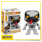 Anti-Venom is given a fun, and funky, stylized look as an adorable collectible vinyl bobble-head!