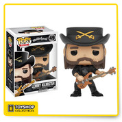 The mutton-chopped English rock legend from Motorhead and Hawkwind joins the Funko family! The heavy-metal legend is armed with his guitar and ready to rock! The Lemmy Kilmister Pop! Vinyl Figure measures approximately 3 3/4-inches tall and comes packaged in a window display box.