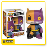The villains of Gotham are dressing up like Batman and pretending to be the famed Caped Crusader! This Batman Imposter Two-Face Pop! Vinyl Figure features Two-Face applying his style to Batman's classic costume. The Batman Impopster Two-Face Pop! Vinyl Figure measures approximately 3 3/4-inches tall and comes packaged in a window display box.