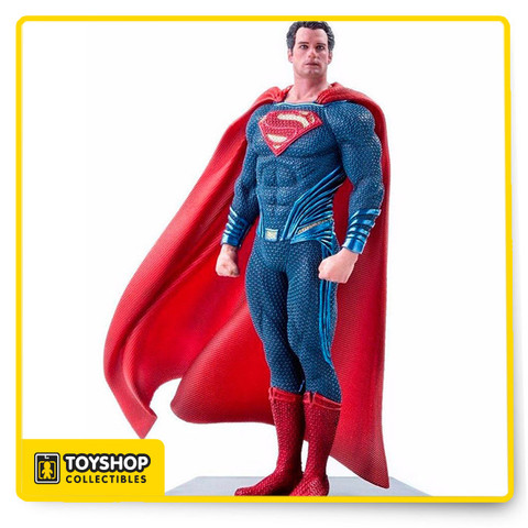 Iron studios is proud to release its limited edition Superman from Batman v Superman: Dawn of Justice! This 1:10 scale model is sure to impress with its hand-painted detailing and polystone base - all modeled after the original movie references! Product also comes with a base for display. Measures approximately 7-inches tall. Ages 15 and up.