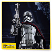 The highly-accurate collectible figure is specially crafted based on the image of Captain Phasma in Star Wars: The Force Awakens. She stands approximately 33cm tall and features the character's signature chrome colored armor and helmet with specially applied multiple layers of metallic paint on armor with weathering effects, a finely tailored cape, highly detailed blaster rifle, and a hexagonal figure stand with the First Order's emblem!