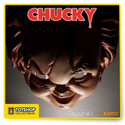 Chucky, the homicidal doll who contains the spirit of Charles Lee Ray, better known as The Lakeshore Strangler, is now an adult size roll play mask. Mezco has created a roll play mask that captures the menacing look of Chucky. Crafted in the tradition of classic costumes, this face mask is constructed of durable vacuformed plastic and secures to your face with a retro-style elastic band, just like the masks of yesteryear. The Chucky mask is packaged in a classic-style two-piece window box that recaptures the magic of the golden age of plastic masks. Sure to become a focal point of any Child's Play collection, it can be displayed in or out of its collector-friendly packaging.