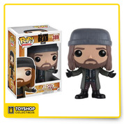 Jesus joins the Pop! vinyl family! The Hilltop ambassador from AMC's The Walking Dead appears welcoming with open arms, but can he be trusted? The Walking Dead Jesus Pop! Vinyl Figure comes packaged in a window display box and measures approximately 3 3/4-inches tall.